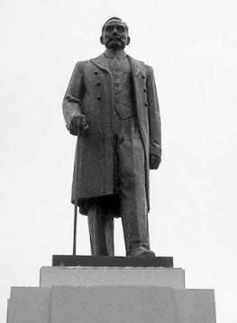 南京新街口孙中山先生铸铜雕塑